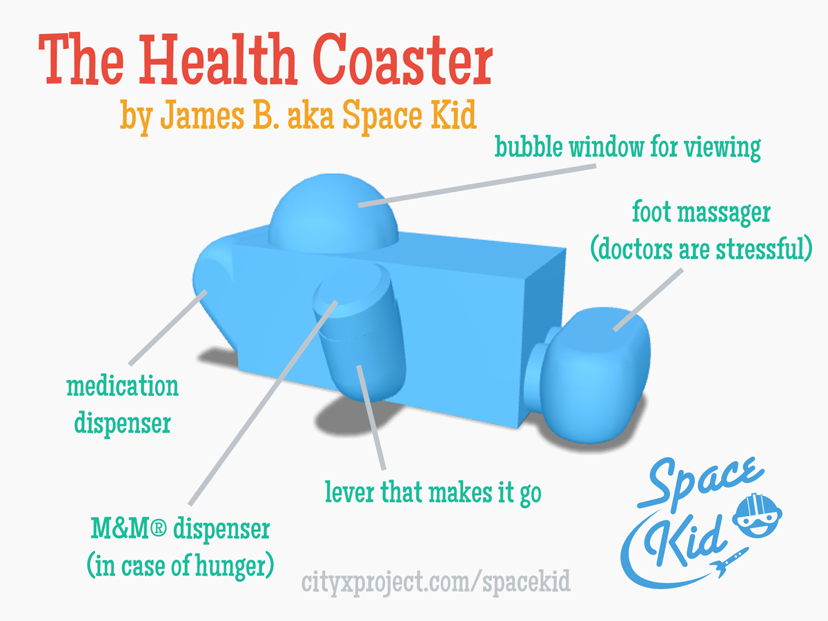 City X Project Space Kid Health Coaster schematic
