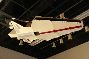 Just for us, the museum even hung this cool spaceship they had from the ceiling to inspire the kids!