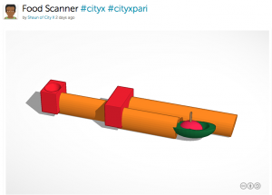Tinkercad model of 3D invention