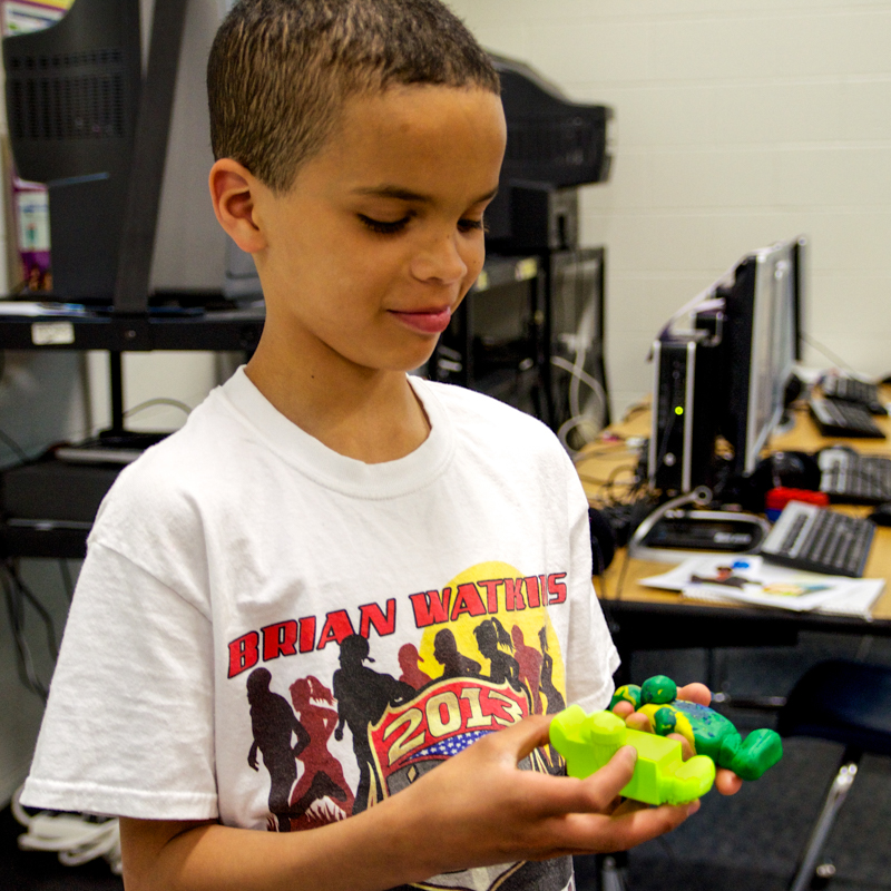 City X Space Kid with his Clay Prototype and 3D printed model